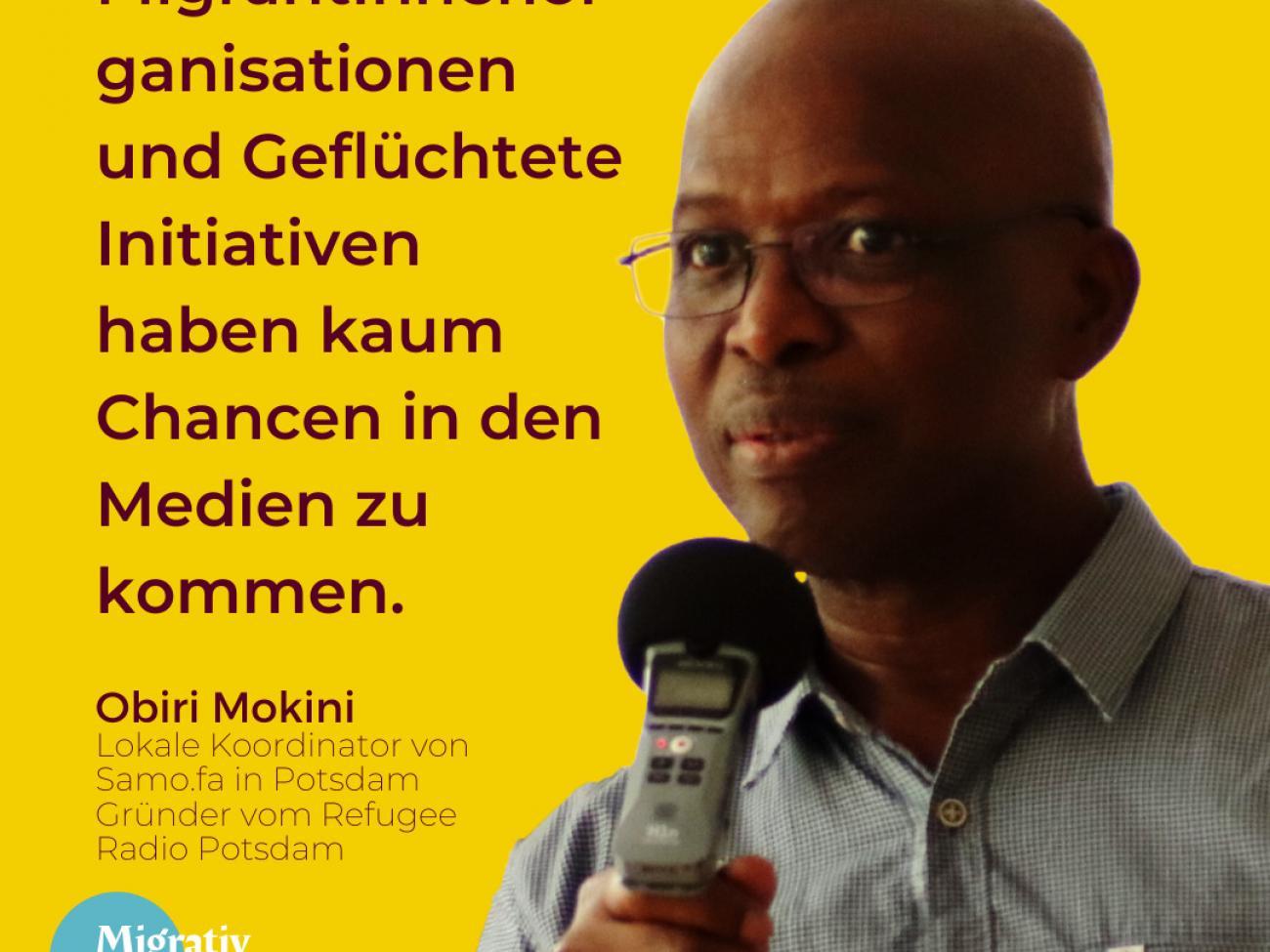 Obiri Mokini: Zur Geschichte des Refugee Radio Potsdam