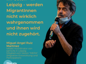 Folge 4: Miguel Angel Ruiz Martínez – Über die politische Partizipation von MigrantInnen in Leipzig